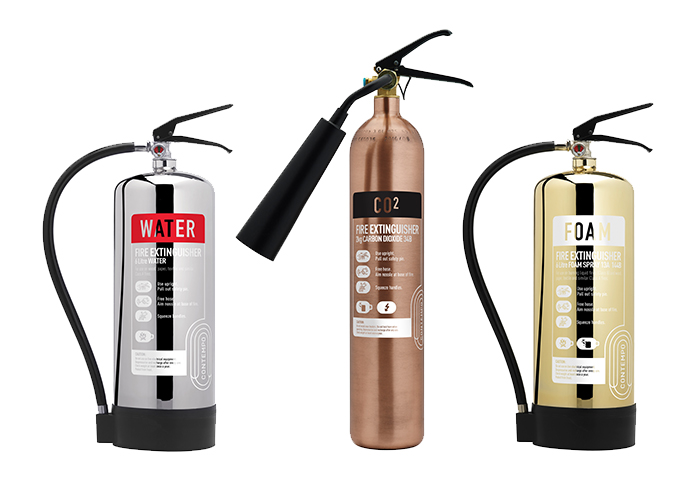 Picture of 3 Contempo fire extinguishers