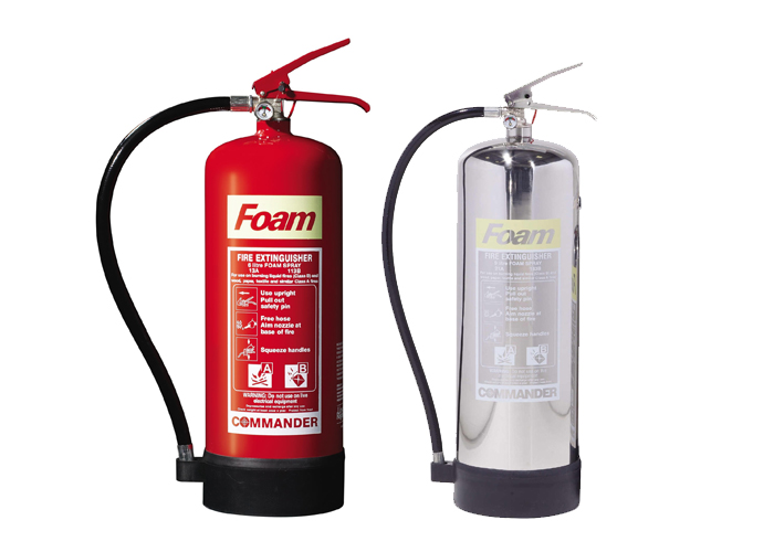 Picture of 2 foam fire extinguishers