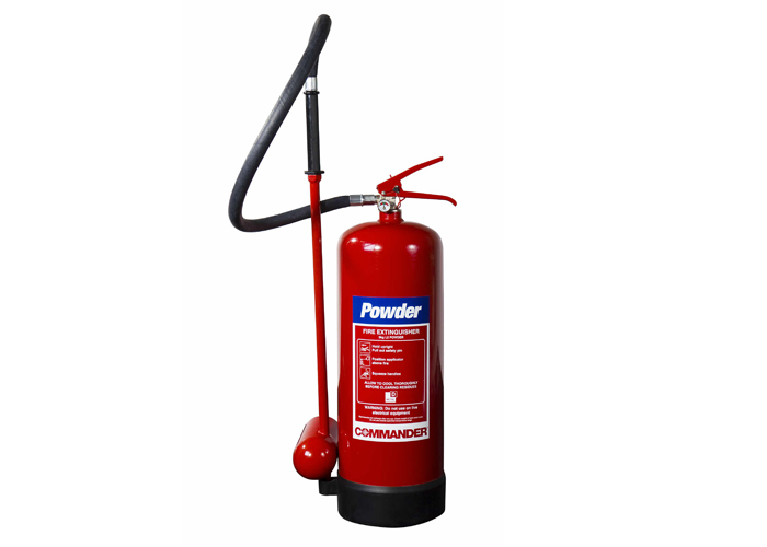 Picture of a L2 powder fire extinguisher