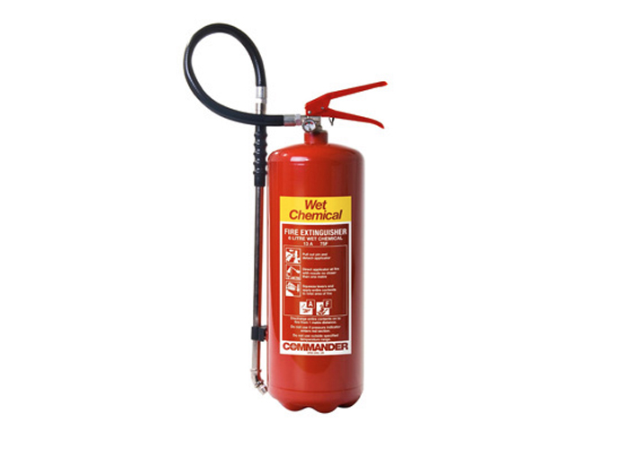 Picture of a wet chemical fire extinguisher
