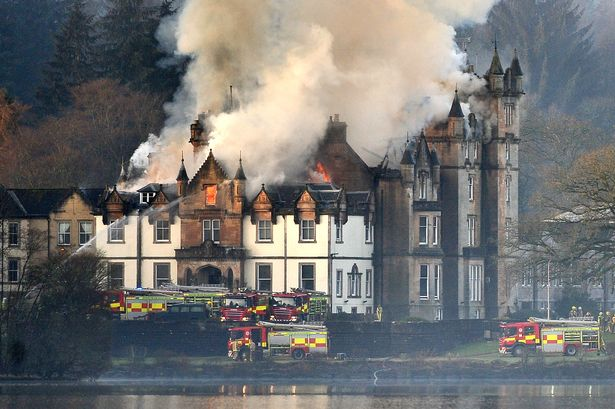 Photogrpah of the Hotel Cameron in Scotland following a fire in 2017