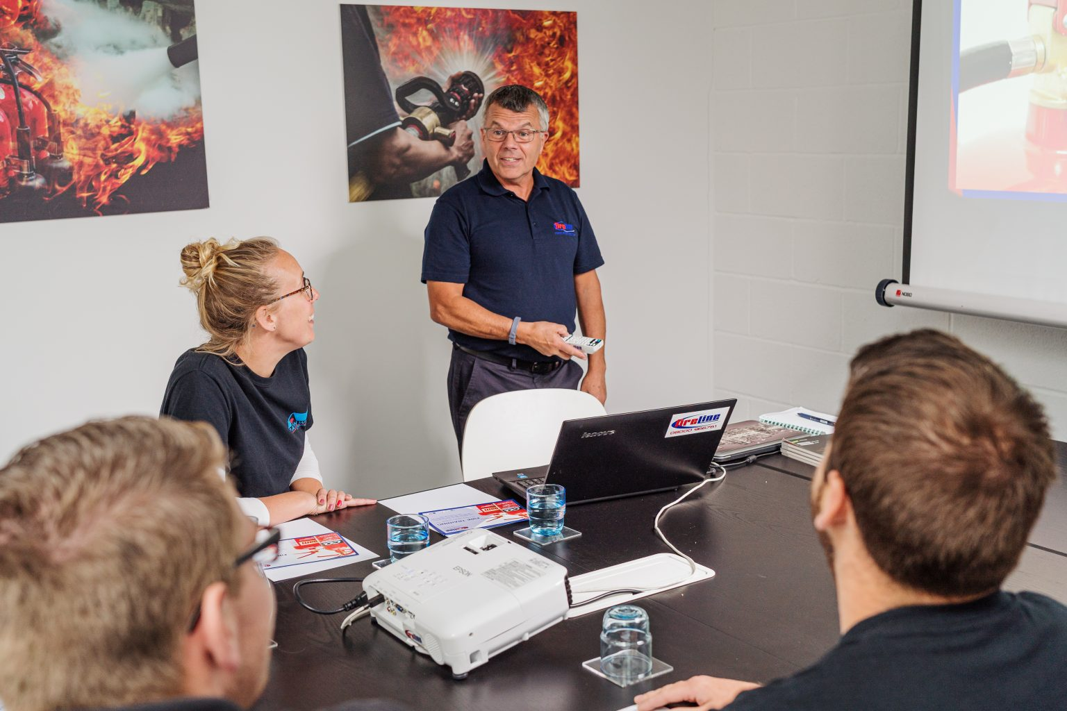 Picture of staff training at Fireline UK